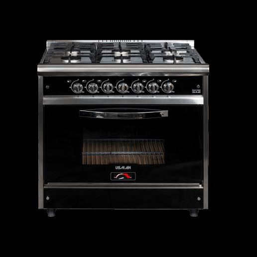 Cocina industrial 90cm Black
